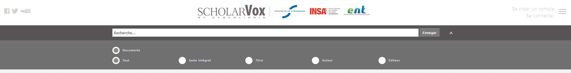 Nouvelle interface Scholarvox 1